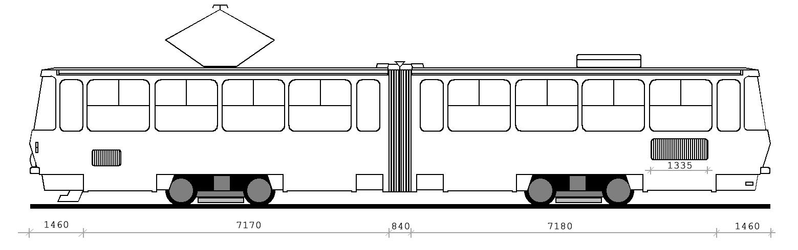 Вагон модели KT4SU